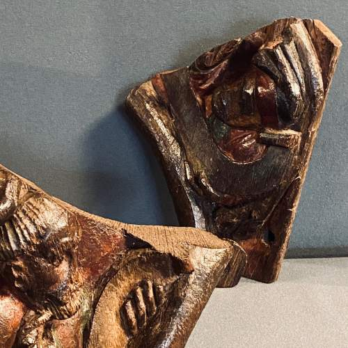 Two 15th Century Carved Oak Fragments Taken from the Tree of Life image-6
