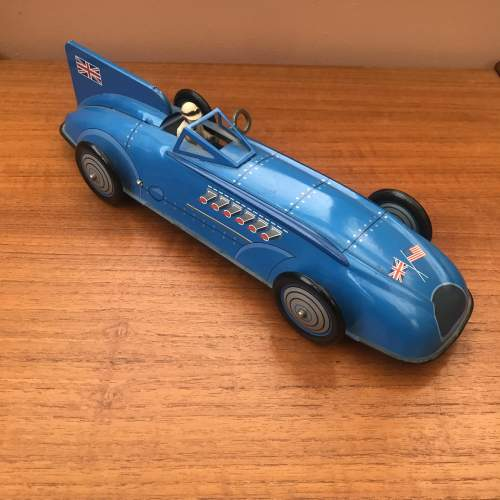 Bluebird Record Racer Tin Plate Key Wind Car With Box image-1