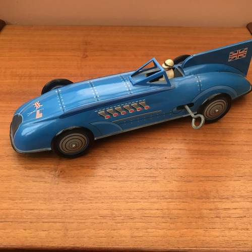Bluebird Record Racer Tin Plate Key Wind Car With Box image-6