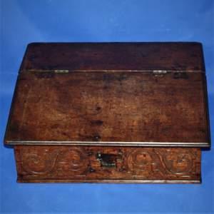 18th Century Oak  Desk Box or Bible Box