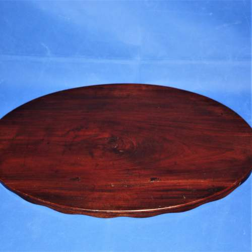 Mahogany Oval Butlers Tray with Scalloped Gallery and Oval Insert image-6