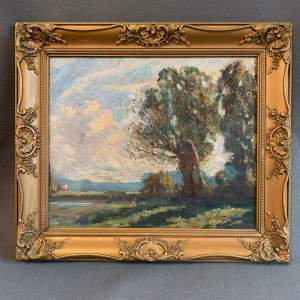 Early 20th Century Oil on Board in the manner of Armesby Brown