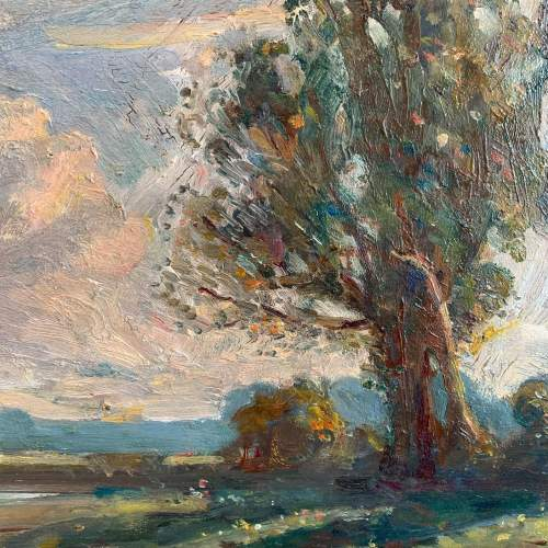 Early 20th Century Oil on Board in the manner of Armesby Brown image-2