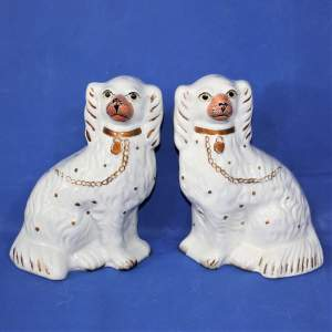 A Pair of Staffordshire Spaniels or Wally Dogs
