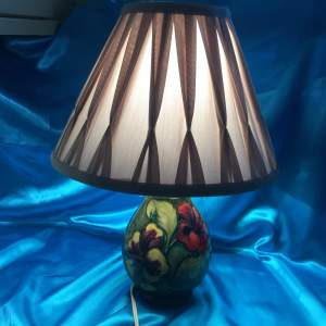 Large Moorcroft Pottery Table Lamp