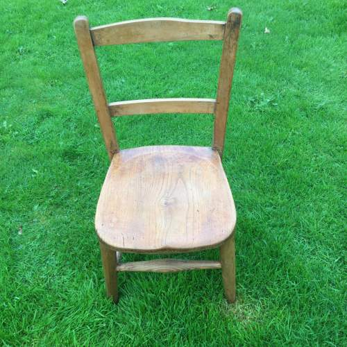 Childs Rustic Elm Chair image-1