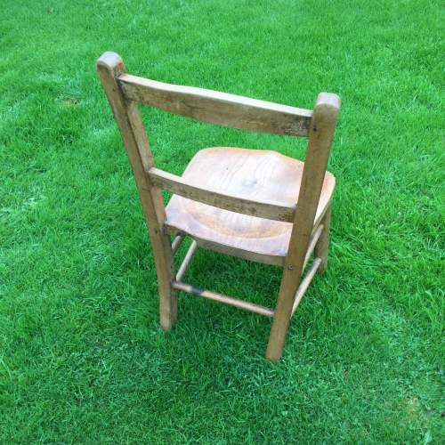 Childs Rustic Elm Chair image-4