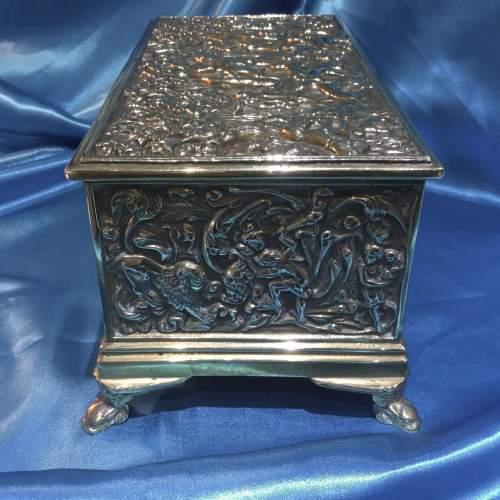 19th Century Decorative Brass Casket image-2