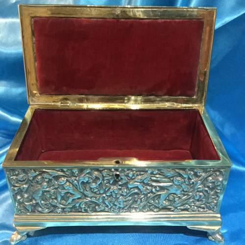 19th Century Decorative Brass Casket image-4