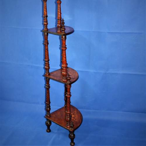 Fine Inlaid Edwardian What Not Shelving with Vase Inlay image-4