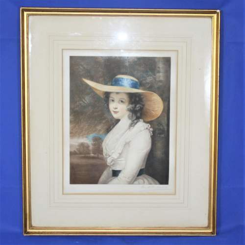 P H Martindale - Signed Print of a Society Lady image-1