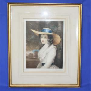 P H Martindale - Signed Print of a Society Lady