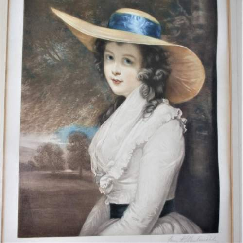 P H Martindale - Signed Print of a Society Lady image-4