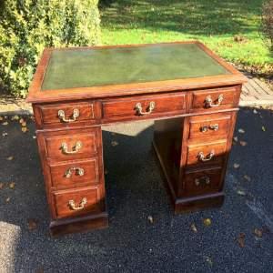 Antique Oak Twin Pedestal Desk
