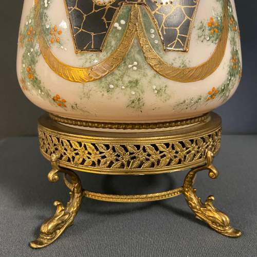 Pair of Victorian Glass Lamps with Shades image-3