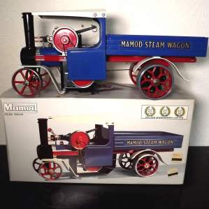 Superb Blue Mamod Live Steam Wagon SW1 in Original packaging
