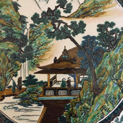 19th Century Hand Painted Japanese Charger image-2