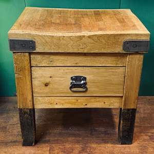Vintage Small Butchers Block
