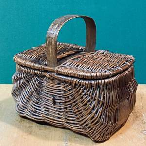 Vintage Small Lidded Basket
