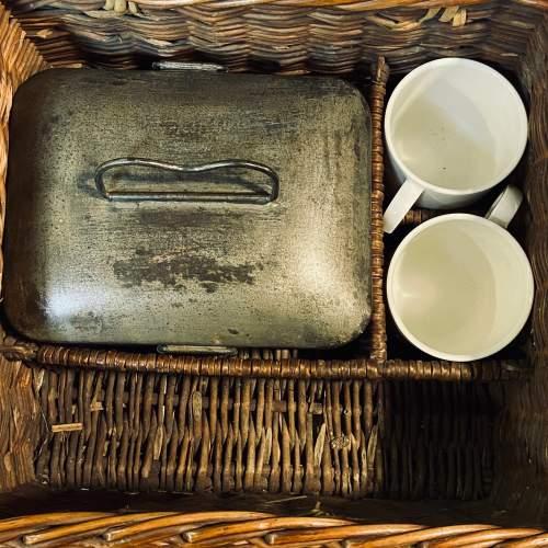 Vintage Small Wicker Picnic Basket image-2