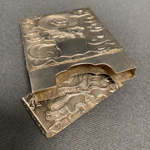 Victorian Hang Wing Silver Card Case image-4