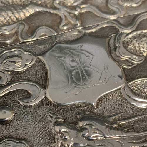 Victorian Hang Wing Silver Card Case image-5