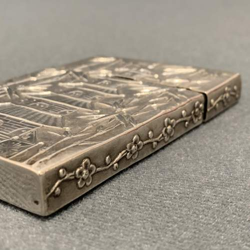 Victorian Hang Wing Silver Card Case image-6