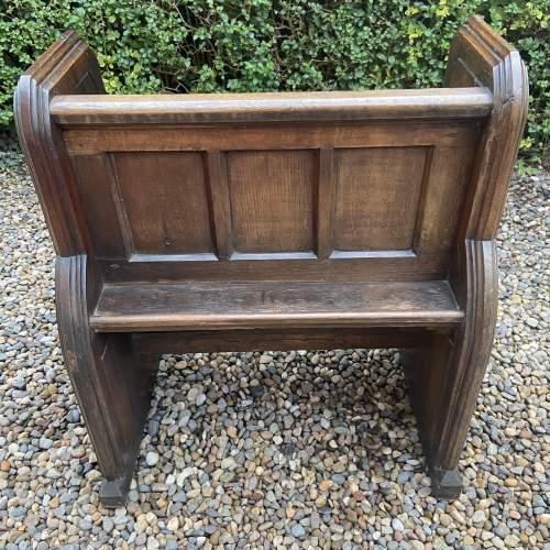 Gothic Revival Single Seat Victorian Oak Pew image-6