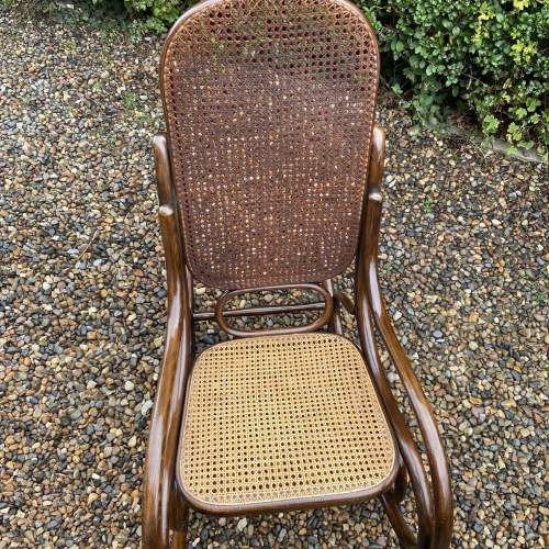 Stylish early 20th Century Fischel Bentwood Rocking Chair image-5