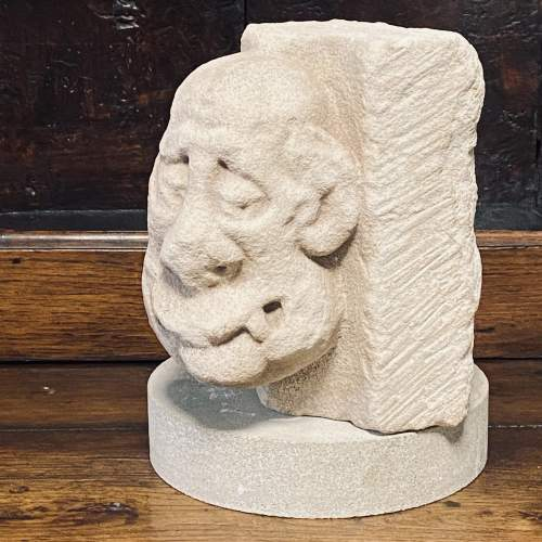 Superb Carved Limestone Sculpture from the 14th 15th Century image-1