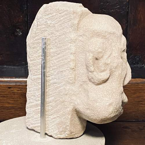 Superb Carved Limestone Sculpture from the 14th 15th Century image-3