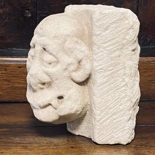 Superb Carved Limestone Sculpture from the 14th 15th Century image-4