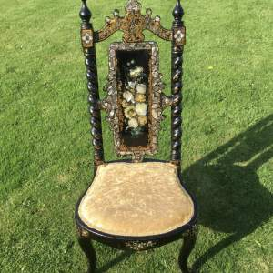 Fabulous Victorian Ebonised High Back Hall Chair