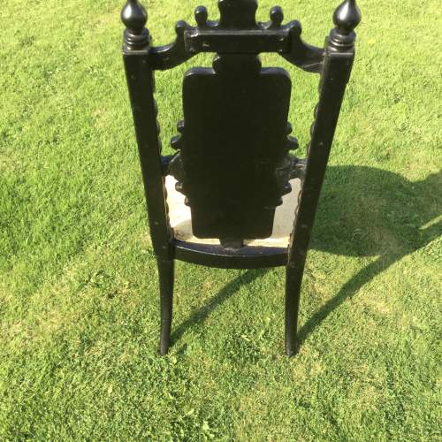 Fabulous Victorian Ebonised High Back Hall Chair image-3