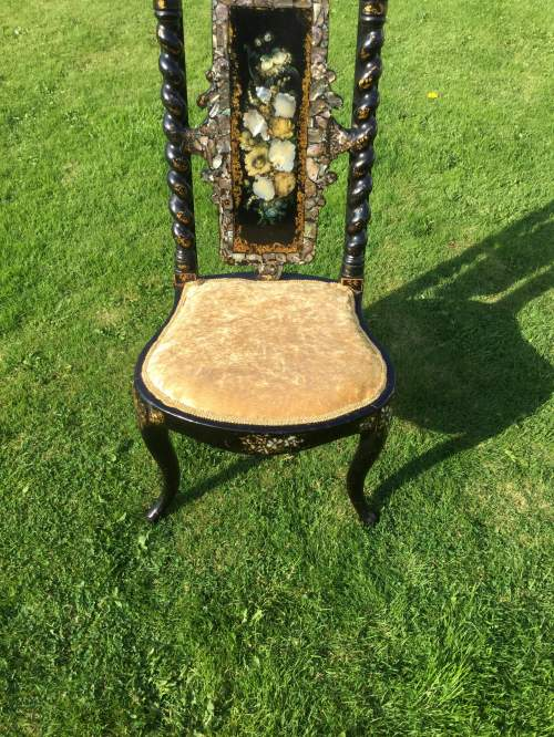 Fabulous Victorian Ebonised High Back Hall Chair image-4