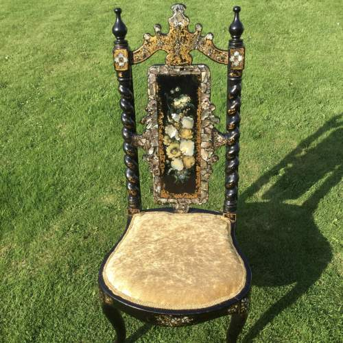 Fabulous Victorian Ebonised High Back Hall Chair image-6