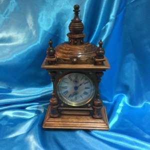 Victorian Walnut Cased Alarm Clock