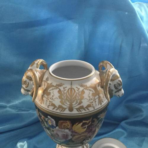 Stunning Hand Painted Pot Pourri Heavily Gilded Vase image-4
