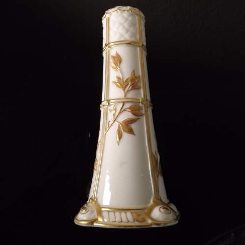 Royal Worcester Victorian 1877 Aesthetic Movment Spill Vase image-1