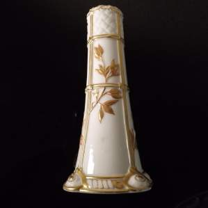 Royal Worcester Victorian 1877 Aesthetic Movment Spill Vase