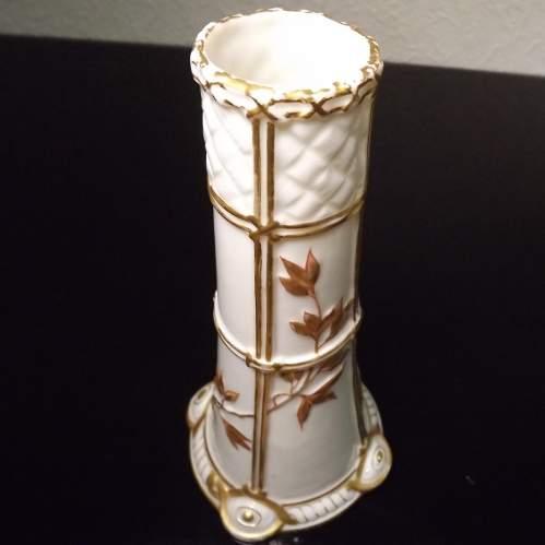 Royal Worcester Victorian 1877 Aesthetic Movment Spill Vase image-3