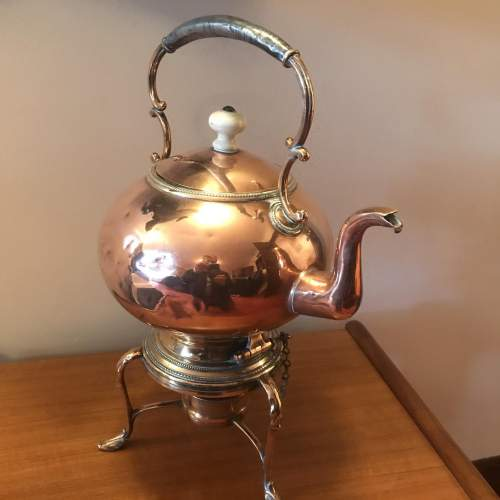 Victorian Decorative Copper Kettle On Stand image-2