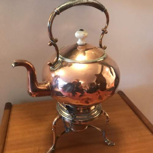 Victorian Decorative Copper Kettle On Stand image-6