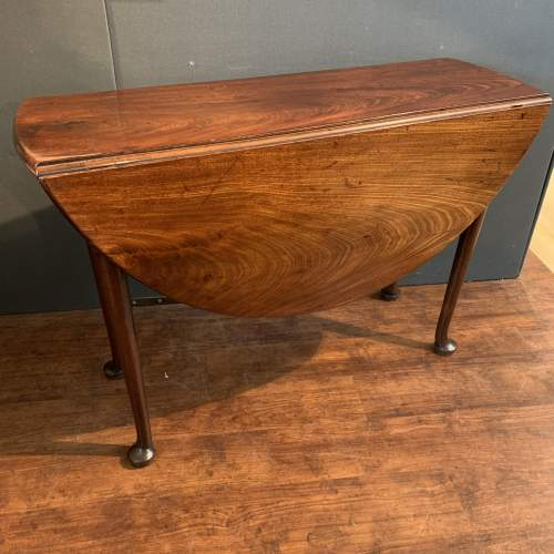 Georgian Mahogany Drop Leaf Dining Table image-1