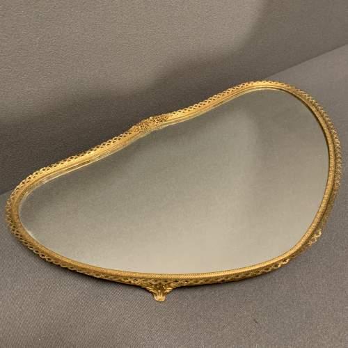 19th Century French Gilt Mirror Tray image-1