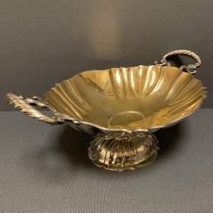 Large Silver German Foehr Fruit Bowl