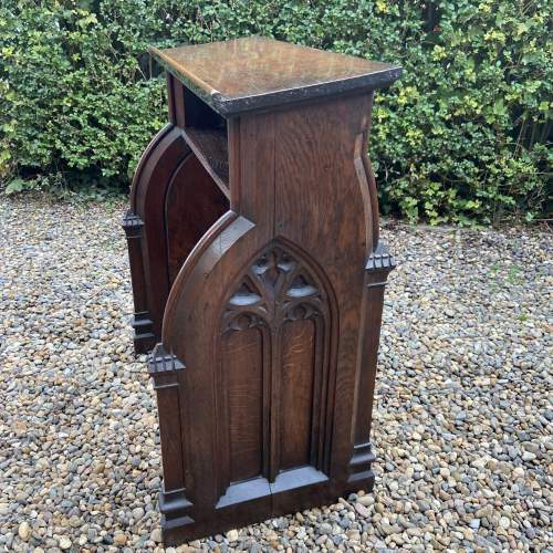 Gothic Revival Victorian Carved Oak Lecturn image-2
