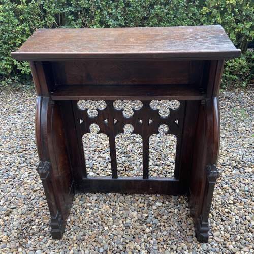 Gothic Revival Victorian Carved Oak Lecturn image-3