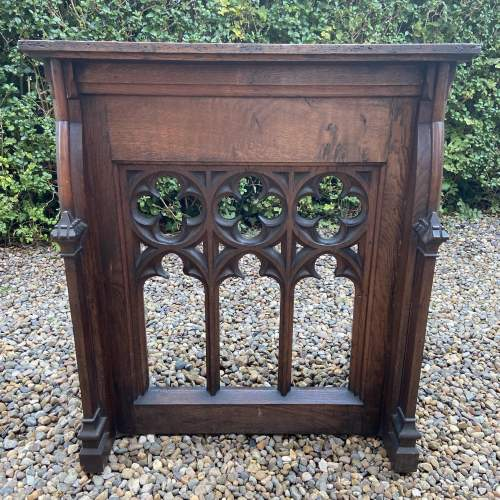 Gothic Revival Victorian Carved Oak Lecturn image-5