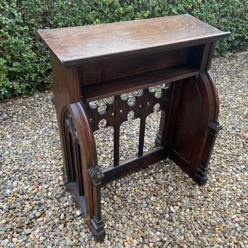 Gothic Revival Victorian Carved Oak Lecturn image-6